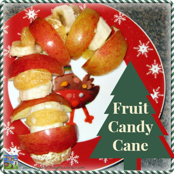 APPLE CANDY CANE SNACK