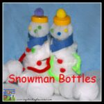DIY SNOWMAN MADE FROM A PLASTIC BOTTLE