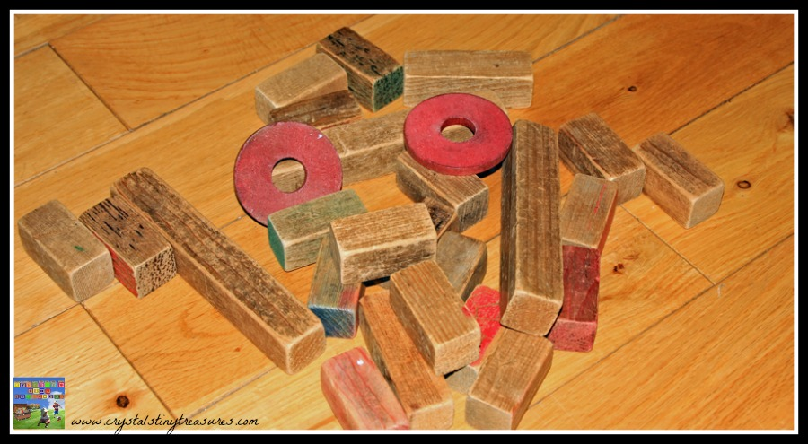 Wooden blocks, learning to spell, building blocks and letter formation, photo