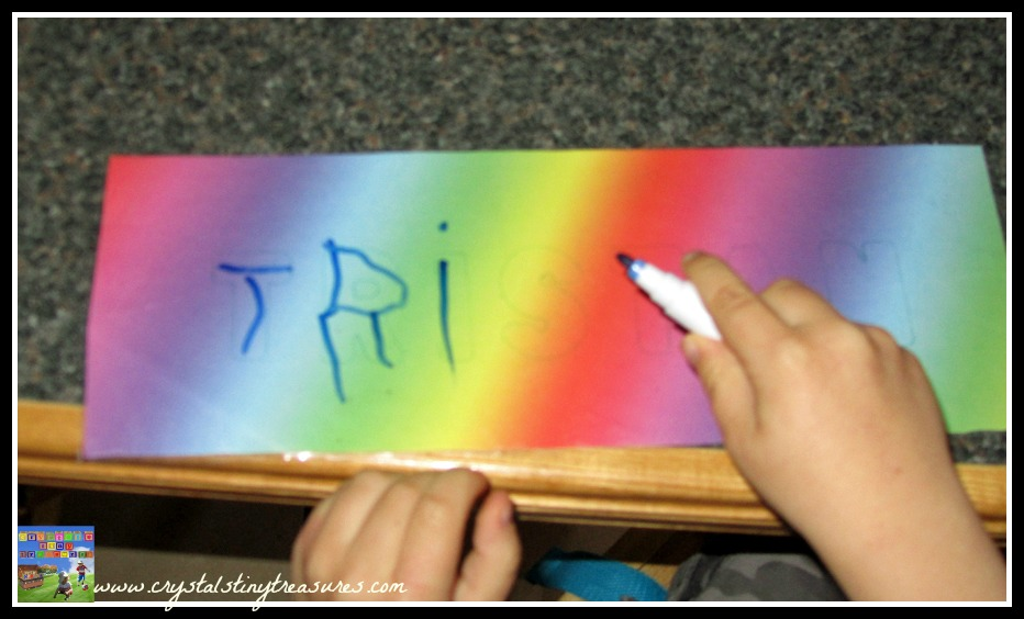 Learning to spell your name, learning to print, kindergarden readiness, fine motor skills, photo