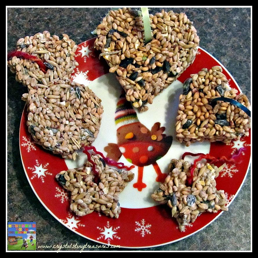 Cookies for the birds, feeding wildlife, birds in your garden, winter birds, Crystal's Tiny Treasures Childminding, photo