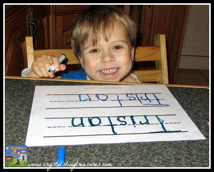Learning letters by learning your name, home-education made fun, things children need to know, photo