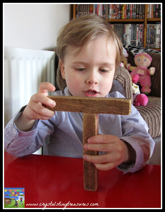 Learning your name, learning letters, other uses for wooden blocks, Traditional toys, Crystal's Tiny Treasures Childminder in Whitehead and Islandmagee, photo