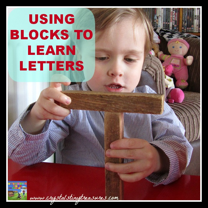 USING BLOCKS TO LEARN LETTERS
