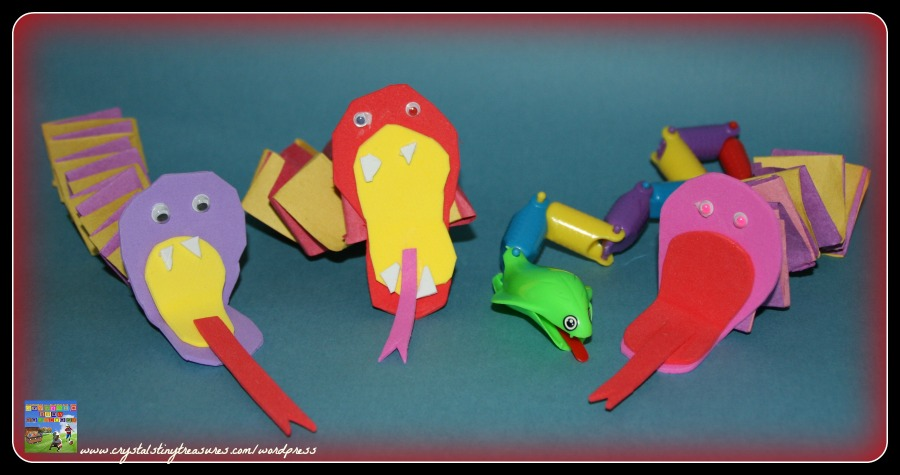 Fun snake crafts for kids, beginner paper folding, photo