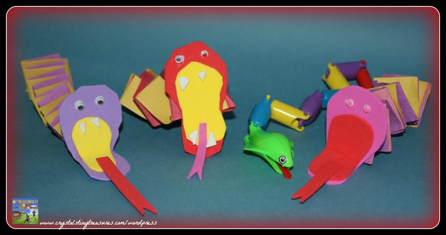 Fun snake crafts for kids, beginner paper folding, photo