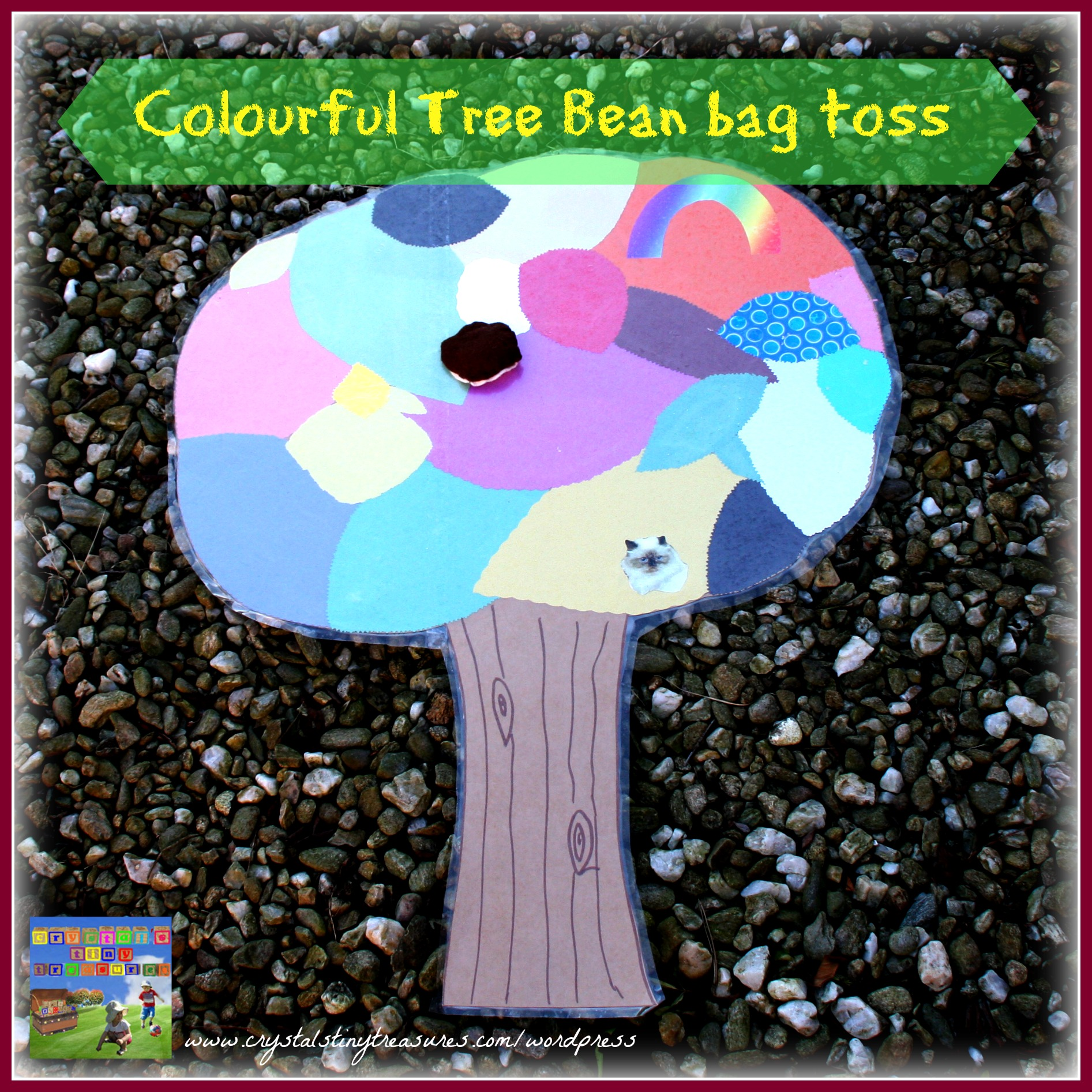 COLOURFUL TREE BEAN BAG TOSS FUN