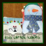 Recycled egg carton craft, winter crafts for kids, arctic crafts for kids, photo