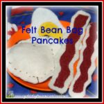 Felt Bean Bag Pancakes for Shrove Tuesday