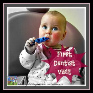 First Dentist Visit, Preparing for the dentist, kids dental month, Crystal's Tiny Treasures, photo