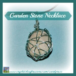 Garden stone pendant, Crystal's Tiny Treasures Childminder in Whitehead and Islandmagee, homemade jewellery</a srcset=