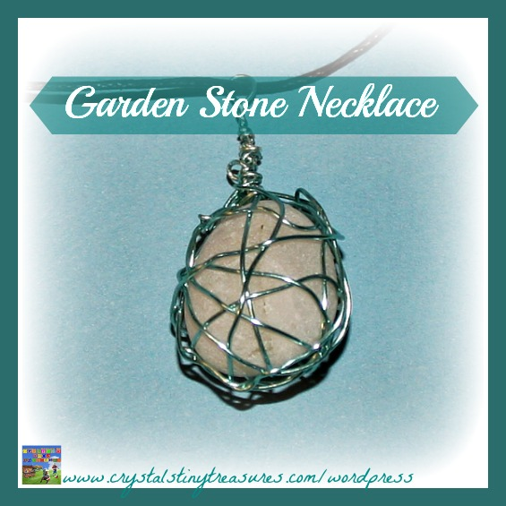 Garden stone pendant, Crystal's Tiny Treasures Childminder in Whitehead and Islandmagee, homemade jewellery, tween craft, fruga</a srcset=