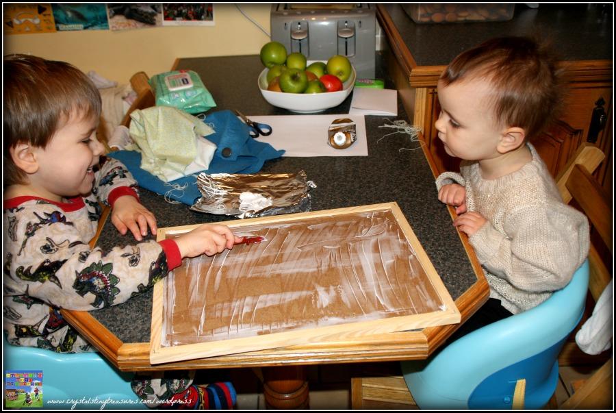 flannel board tutorial, Crystal's Tiny Treasures Childmining in Whitehead and Islandmagee, diy felt board, photo