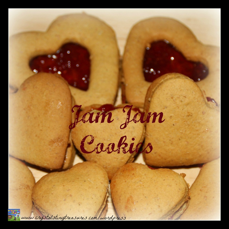 Grandma's Jam Jam Cookies, made with love cookies, family favourite cookies, sandwhich cookies, photo