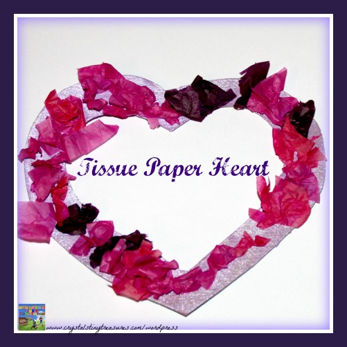 Valentine's Day Tissue Paper Heart Wreath