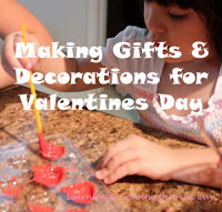 Making gifts & decorations for Valentines Day