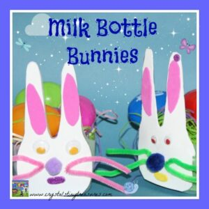 Home made Easter Bunny Basket supplies for kids, Preschool Easter crafts, photo