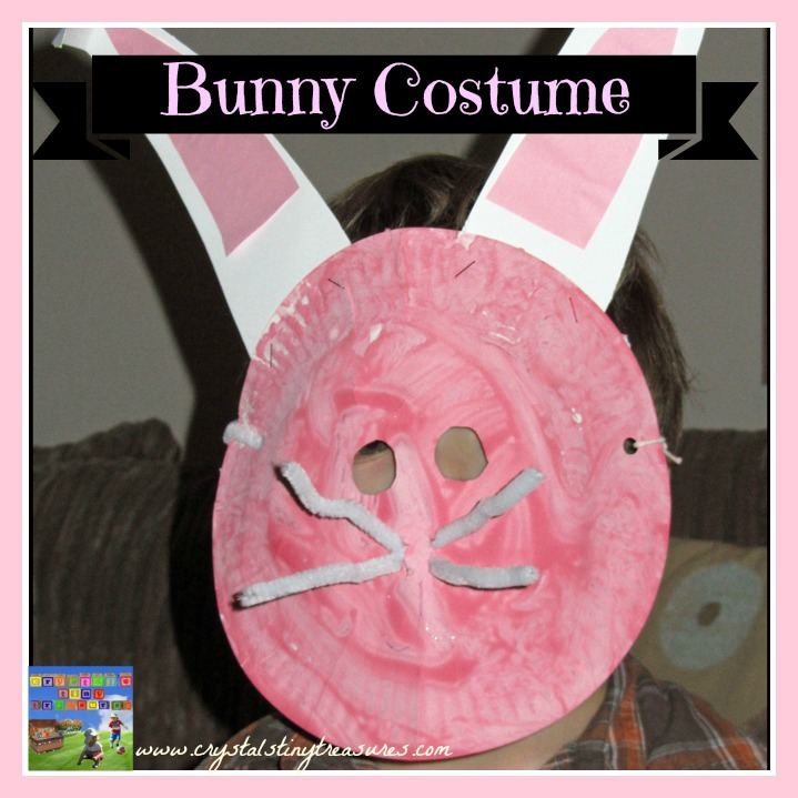 Home made Easter bunny costume for kids!  The kids can make it themselves  with a little help and a few handy supplies.