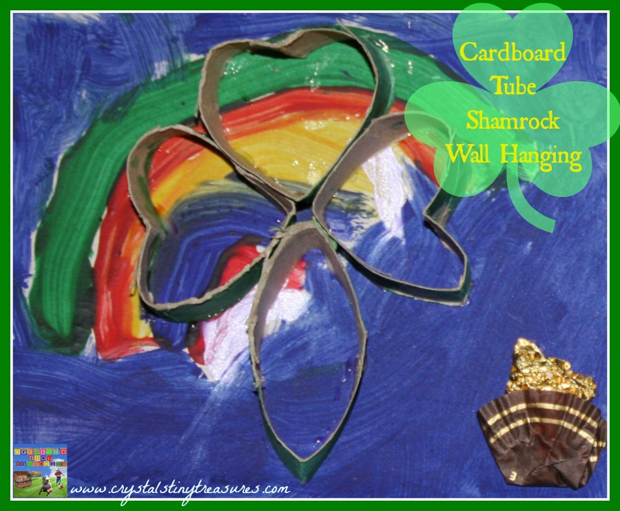 Rainbows crafts, St. Patrick's Day crafts, shamrock crafts for kids, paint mixing for kids, photo