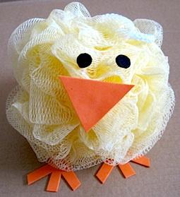 Bath pouf chick, photo