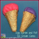 Egg carton crafts, play food crafts, felt crafts for kids, Crystal's Tiny Treasures, photo