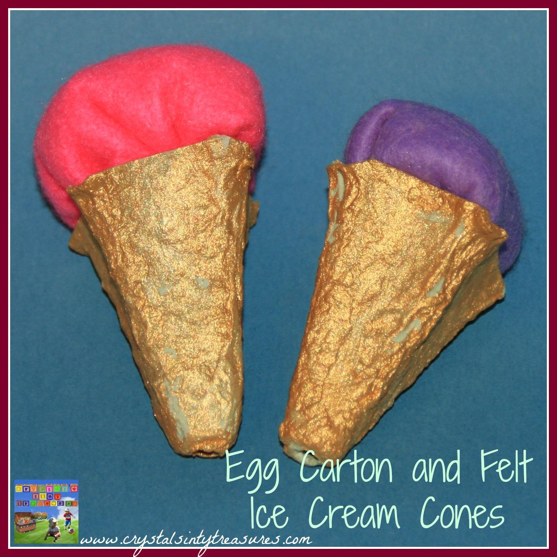 Egg Carton Ice Cream Cone Craft