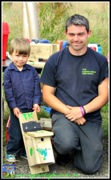 Bird Box building for summer fun, Eco activities for kids, photo