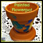 Painted flowerpot, kids crafts for Mother's Day, gardening with kids, Crystal's Tiny Treasures Childminding in Whitehead, photo