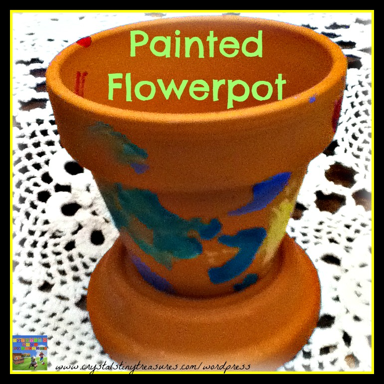 Painted flowerpots by kids are such a fun craft project, and very sentimental as well when used as gifts for family.
