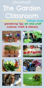 The Garden Classroom, art, science, math, literacy, photo