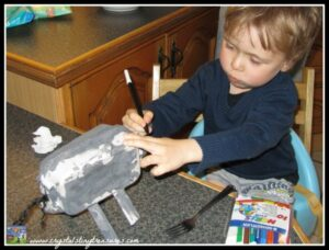 Crystal's Tiny Treasures Childminding in Whitehead, egg carton crafts, farm animal crafts for kids, photo