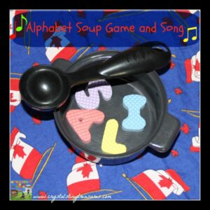 Alphabet Soup Song and Game, ESL fun for kids, Letter recognition game, learning about letters, photo
