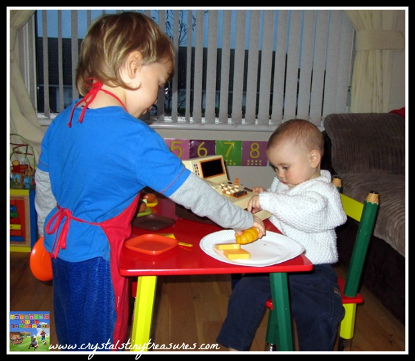 Fun pretend play for kids, role playing for children, photo