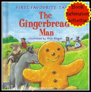 Gingerbread Man Book Book Extension Activities, Crystal's Tiny Treasures, photo