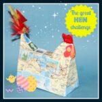 Hen Challenge, crafts for Mommies, Blogger's crafts, Papier Maché hen, photo
