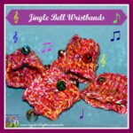 Jingle bell wrist bands for babies, gross motor exploration for babies, keeping babies busy in the car, Crystal's Tiny Treasures, photo
