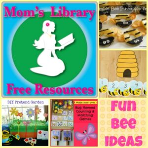 Fun bee learning ideas, Mom's Library Free Resources, Crystal's Tiny Treasures, photo