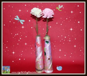 Flowers in a home-made vase, Mother's Day craft ideas, upcycled kids crafts, Crystal's Tiny Treasures, ph</a srcset=