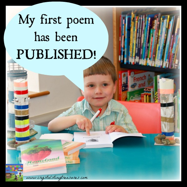 Homeland poetry book is released, Having his first poem published, young poets, early learning, book signing, Crystal's Tiny Treasures Childminding, photo