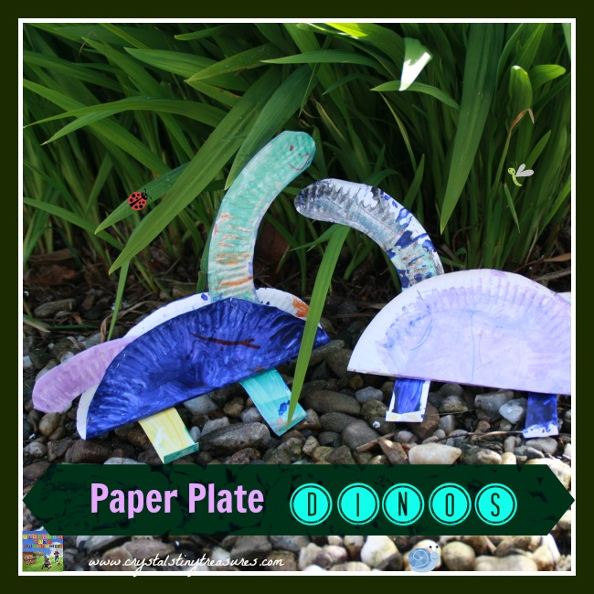 Paper plate dinosaurs, Crystal's Tiny Treasures, photo