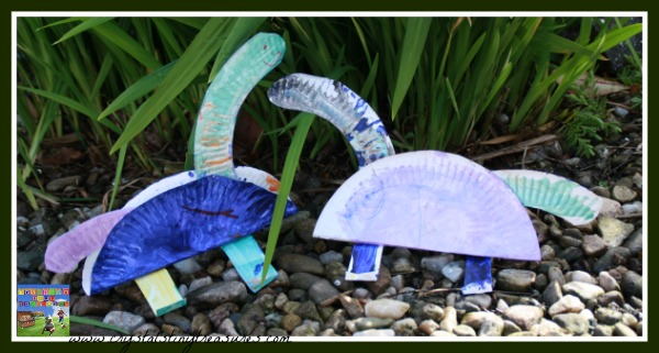 Paper Plate Dinos, fun summer crafts for kids, photo