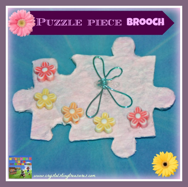Puzzle piece brooch, What to do with spare puzzle pieces, Crystal's Tiny Treasures, photo