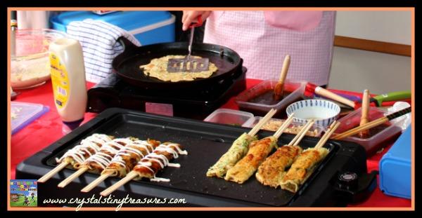 Hashimaki, Okinamiyaki, Japanese summer festival food, summer fun for the family, photo
