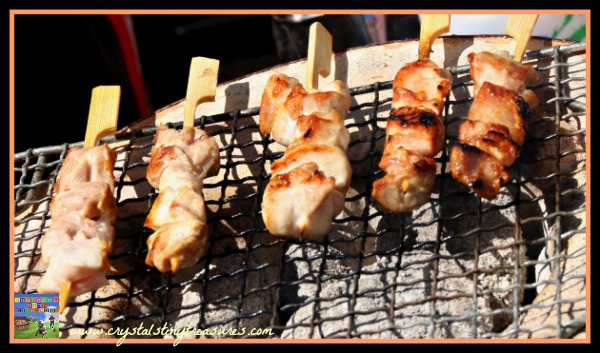 Yakitori, Japanese summer food, festival food, photo