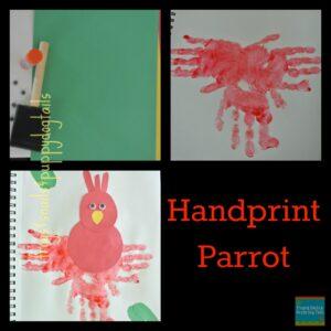 hand print parrot