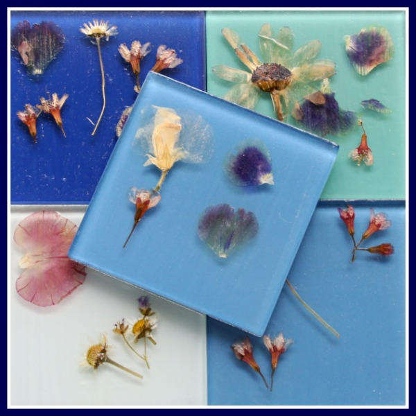 Flower coasters, summer crafts for kids, crafts for tweens and teens, photo