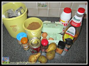 Pear Spice Muffins Ingredients, photo