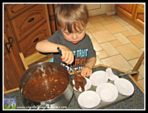 how preschoolers can help in the kitchen, baking with kids, moist and delicious muffins, photo