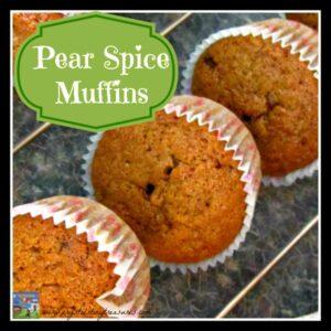 Pear Spice Muffin Recipe, Crystal's Tiny Treasures