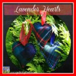Lavender Tartan Hearts by Crystal's Tiny Treasures